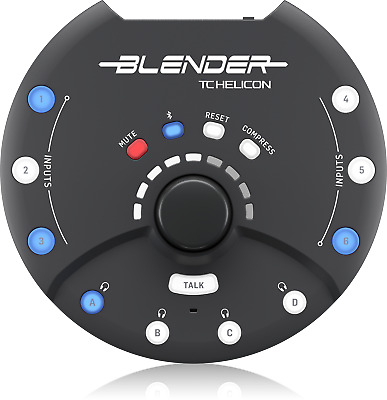 TC Helicon Blender Portable 12 x 8 Stereo Mixer with Audio Interface - Warranty