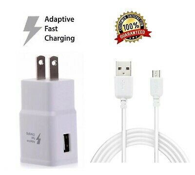 Fast Rapid Wall Charger-Charging Cable Cord For Samsung Galaxy J3 J7 Phone White
