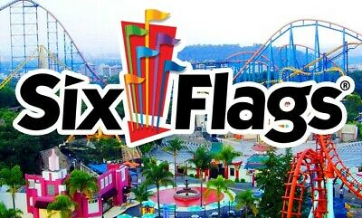 Six Flags Theme Park 1 Day Admission Tickets
