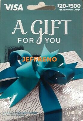 400 GIFT CARD- FREE SHIPPING ACTIVATED- Non Reloadable- No Fees After Purchase