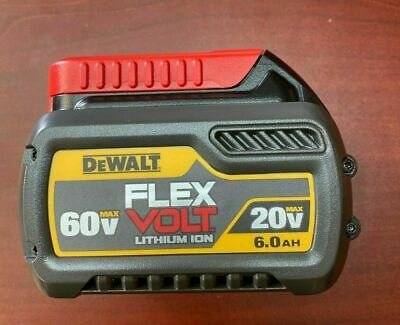 New DEWALT DCB606 20V60V MAX FLEXVOLT 6-0 Ah Battery Open Box