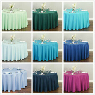 Bargain Sale 120 in- Round Polyester Tablecloth Wedding Event Party - Very New