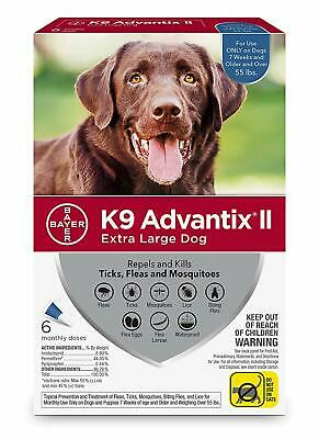 Bayer K9 Advantix II Mosquito Prevention for X-Large Dogs Over 55 lbs6 Pack