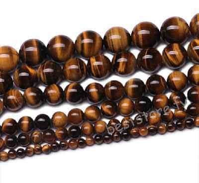 4mm 6mm 8mm 10mm 12mm Natural Tigers Eye Gemstone Round Loose Spacer Beads