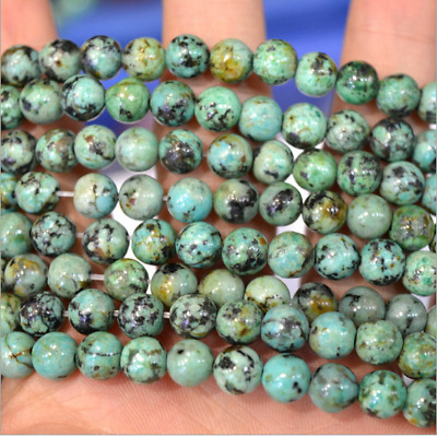 4mm 6mm 8mm 10mm 12mm Natural African Turquoise Gemstone Round Loose Beads