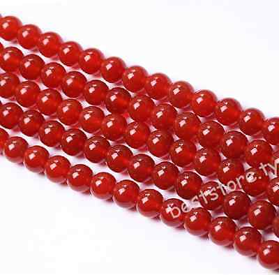 4mm 6mm 8mm 10mm 12mm Red Carnelian Natural Agate Gemstone Round  Loose Beads