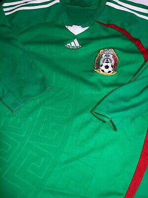 Adidas Mexico Soccer Jersey 34 Sleeve 2008 Vintage Green Home Futbol World Cup
