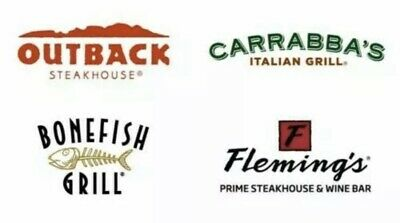 50 Outback Steakhouse Bonefish Carrabba - 20 OFF INSTANT EMAIL DELIVERY