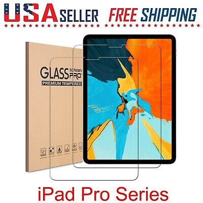 2 Pack For Apple iPad Pro Series 4  3  2  1 Tempered Glass Screen Protectors