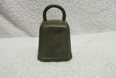 vintage brass cow bell primitve lot G
