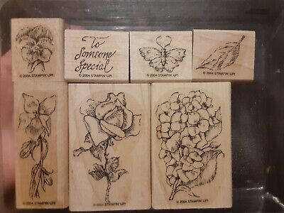 2004 Stampin Up Flower Garden-  Assembled only never used set of 7-