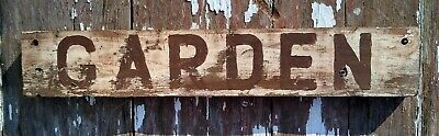 Old early Primitive antique farm chippy Barn GARDEN sign seeds spring plant
