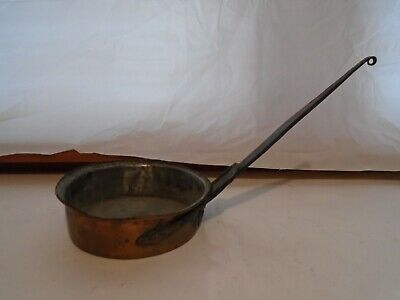 ANTIQUE HAND MADE 10 COPPER SKILLET