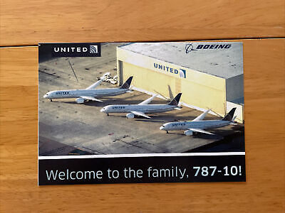 United Airlines Boeing 787-10 Welcome To The Family Card