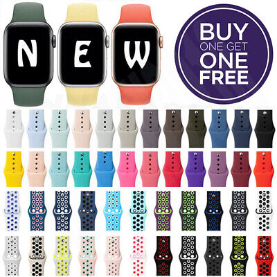 Silicone Band Strap For Apple Watch Series 123456SE Sports 38424044mm