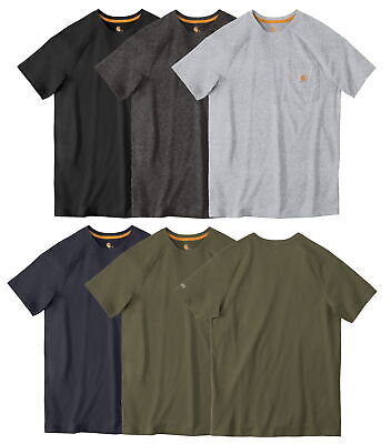 Carhartt Mens Force Cotton Delmont Short Sleeve T-Shirt Relaxed Fit CT100401