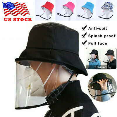 US Hot Anti-spitting Protective Hat Cover Outdoor Anti- Fisherman Hat Adjustable
