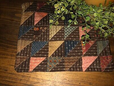 Primitive Spring Farmhouse Quilted Candle Mat Easter Doll Stitched Moda Bowl