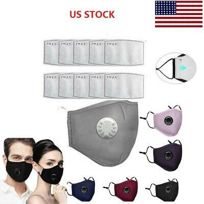 Cycling Mouth Cover Anti-fog Pollution Protection Cotton Washable - 2 Filters