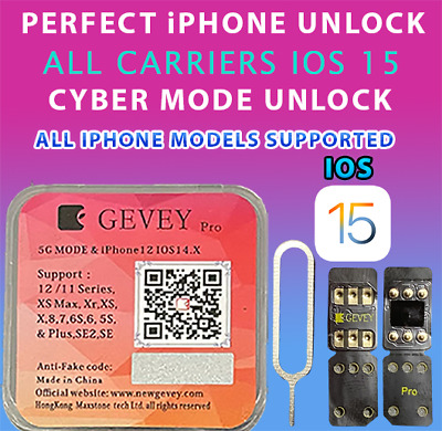 GEVEY PRO UNLOCK SIM CARD ICCID-MNC MODE ANY IPHONE IOS 13-5-1 VIDEO INSTRUCTION