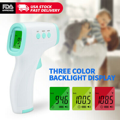 Infrared Thermometer Digital LED Forehead No-Touch Body Adult Temperature US ℉