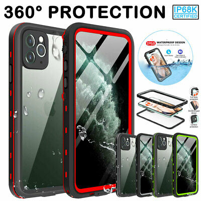 For iPhone 11 Pro Max XS XR X 6s 7 8 Waterproof Case Cover w Screen Protector