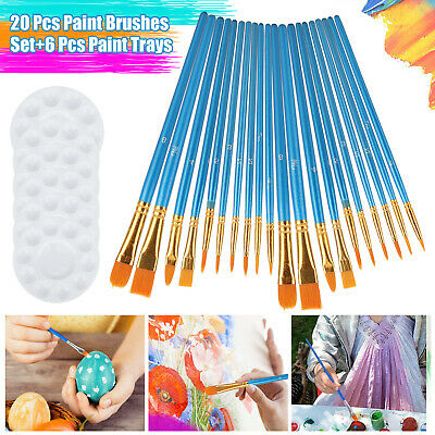 12Pcs Artist Paint Brushes Set Tube-Hair For Watercolor Acrylic Gouache Painting