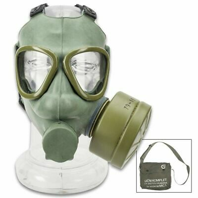 Serbian Military M1 Gas Mask Full Face Adult NBC with 60MM Filter w Bag Green