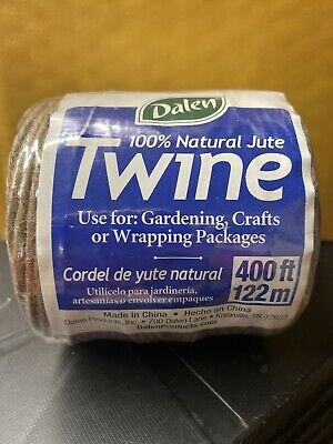 Dalen 100 Natural Jute Twine 400 ft Roll New Sealed  Fresh