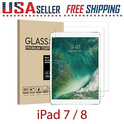 2 Pack For Apple iPad 8 7 Gen 10-2 Tempered Glass Film Screen Protector Pencil