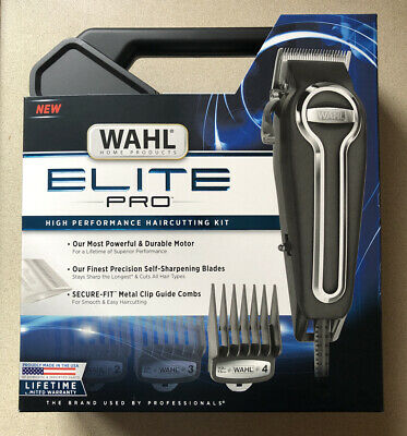 BRAND NEW Wahl Elite Pro Clippers Complete Hair Cutting Kit 79602