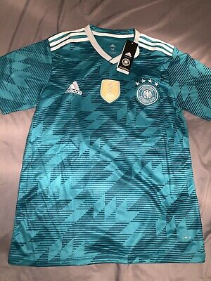 Adidas 2018 Germany Green Away Jersey World Cup Winner Patch NWT Men's Size M