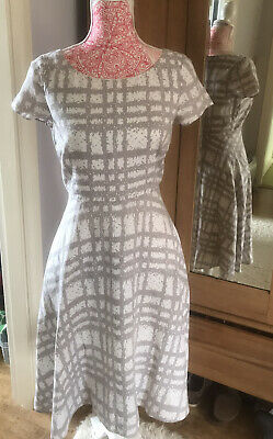 Lovely Hobbs Linen Dress Size 10 As Worn By Kate Middleton
