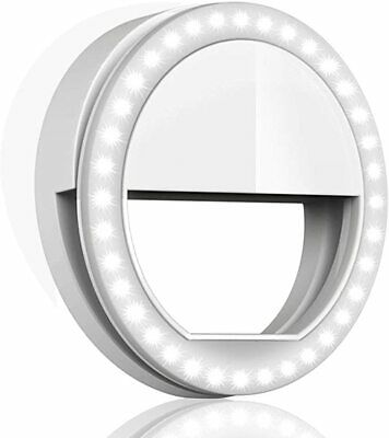 Selfie Ring Light for Phone Camera Portable iPhone Android  Batteries Included