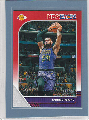 LeBRON JAMES sp 75 2019-20 Panini NBA Hoops Red parallel base card 87