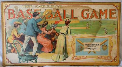Antique All Star Classic 1898 THE COLLEGE BASEBALL BOARD GAME Parker Brothers