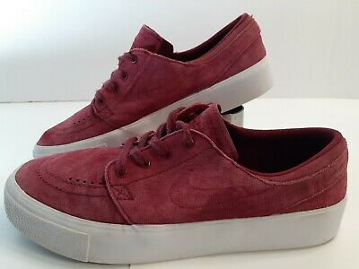 Nike  Zoom Stefan Janoski Skateboard Shoes Mens Size 6 Red Suede Nubuck