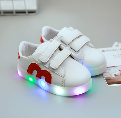 LED Light Baby Girls Casual Running Sneaker Shoes Kids Boys Child Sports Shoes