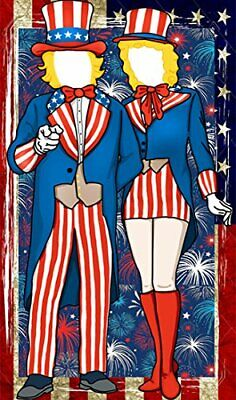 Patriotic Fourth of July Uncle Sam Photo Door Banner Backdrop Props- 4th of July