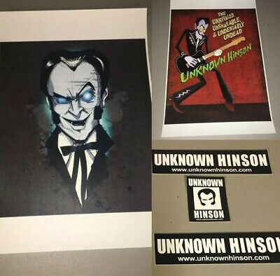 NEW UNKNOWN HINSON 2 Poster Combo Sticker Set Signed