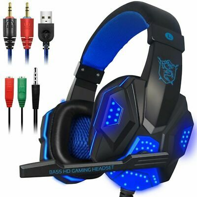 PLEXTONE PC780 Wired LED Gaming Headset w Mic For PC XBOX PS4