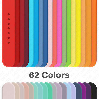 Silicone Band Strap for Apple Watch Series 123456SE Sports 38404244mm