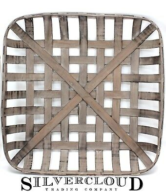 Tobacco Basket Rustic Farmhouse Decor Med 21 Square Great Display for Wreaths