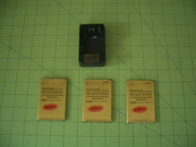 Lot 3 BATTERIES - WALL CHARGER Battery Samsung GALAXY Note 3 III battery high