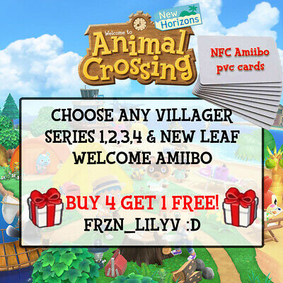NEW Animal Crossing Amiibo NFC CARDS - POPULAR - ANY VILLAGER TO CHOOSE