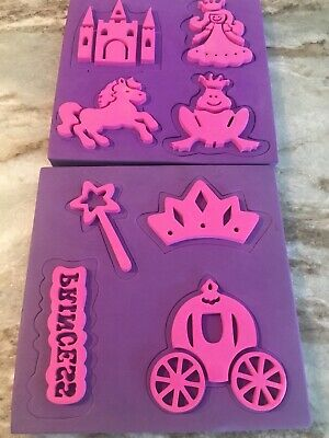 Princess Fairy Tale Chunky Foam Stampers Paint Ink Pad
