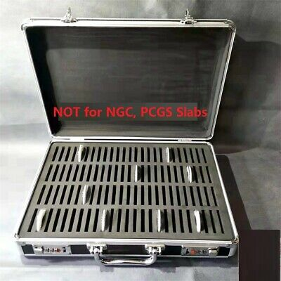 Aluminum Frame Storage Box Case with Lock for 100 Silver Dollar Coins Holders