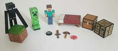 Minecraft Figure and Blocks Jazwares Lot