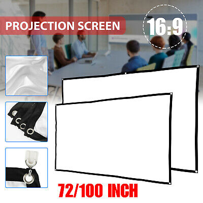 72100 169 Manual Pull Down Projector Projection Screen Home Theater Movie