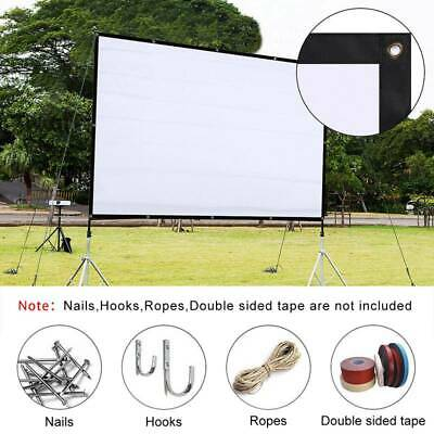 120 HD 4K Movie Portable 169 Projector Film Screen Outdoor Home Cinema Theater